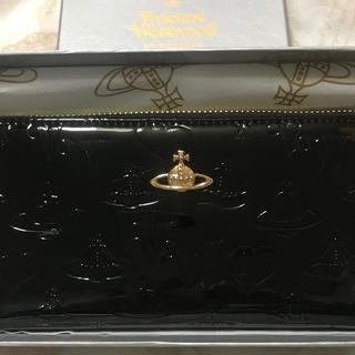 ヴィヴィアンウエストウッド(Vivienne Westwood)のヴィヴィアンウエストウッド ブラックエナメル 長財布 新品(財布)