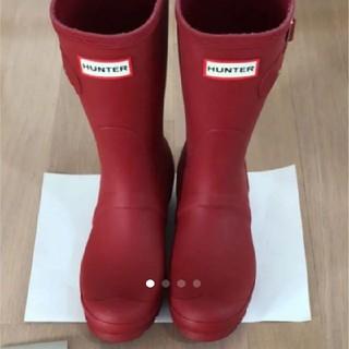 ハンター(HUNTER)のハンターレインブーツ赤(レインブーツ/長靴)