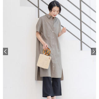 ディスコート(Discoat)の新品未使用@ディスコートdiscoatシャツワンピース(ロングワンピース/マキシワンピース)