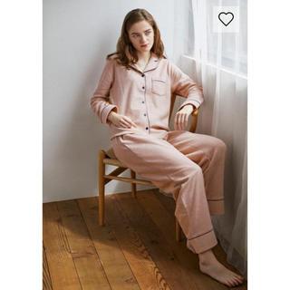 GU パイルパジャマ(長袖)(裏起毛) ピンク Sサイズ