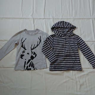 レモール100㎝長袖Tシャツパーカー二枚セット男の子(Tシャツ/カットソー)