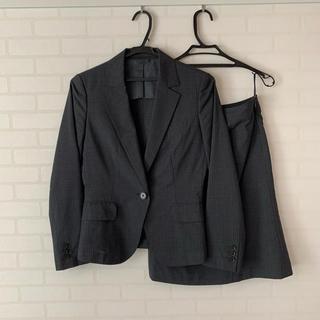 スーツカンパニー(THE SUIT COMPANY)のダークグレー*ストライプ スーツ3点セット(スーツ)