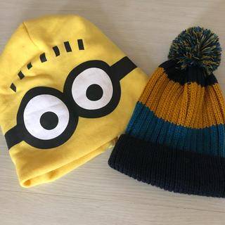 ミニオン(ミニオン)の未使用帽子ミニオンとニット帽セット(帽子)