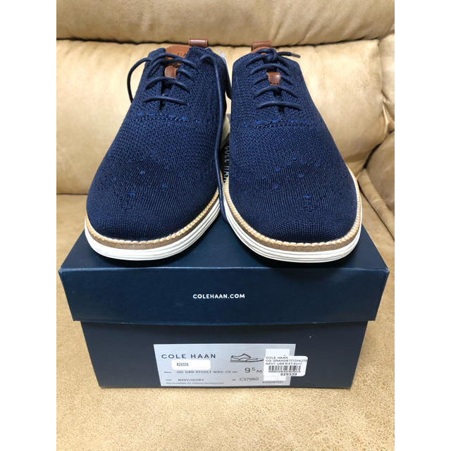 Cole Haan(コールハーン)の新品 未使用 コールハーン ドレス ビジネスシューズ ネイビー 27.5cm メンズの靴/シューズ(ドレス/ビジネス)の商品写真