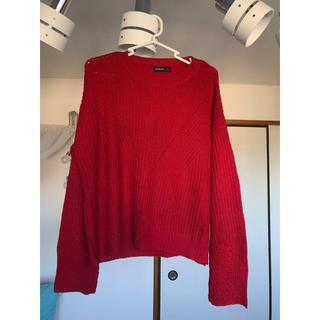 エイソス(asos)のStradivarius 赤 セーター(ニット/セーター)