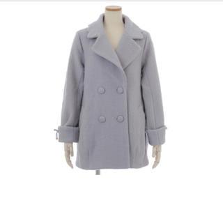 リズリサ(LIZ LISA)の袖口レースアップコクーンコート ブルー LIZ LISA 新品 (ロングコート)