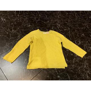 ザラキッズ(ZARA KIDS)のZARA KIDS カラシ色ニットセーター 2〜3歳 98㎝(ニット)