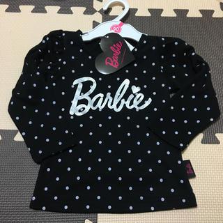 バービー(Barbie)の90cm バービー Barbie  BARBIE トップス ドット ブラック❤️(Tシャツ/カットソー)