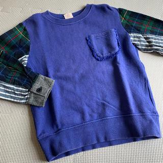 プティマイン(petit main)のプティマイン  110 異素材コンビトレーナー エフオー(Tシャツ/カットソー)