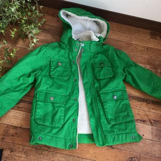 エイチアンドエム(H&M)のH&M 裏ボアコート 100〜110位 グリーン 緑(ジャケット/上着)
