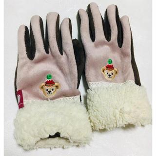 ダッフィー(ダッフィー)のお値下げ  ダッフィー 刺繍入り 手袋  一日使用 (手袋)