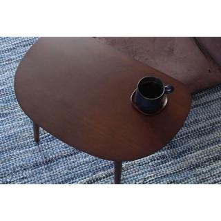 激安 木製ローテーブル 幅60cm ブラウン ミニテーブル 北欧(ローテーブル)