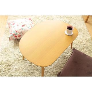 激安 木製ローテーブル 幅60cm ナチュラル ミニテーブル 北欧(ローテーブル)