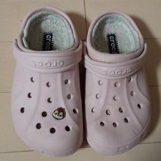 crocs - 訳あり  クロックス  ボア付きサンダル  17cm
