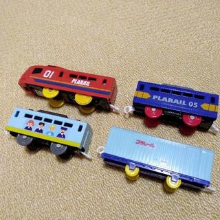 トミー(TOMMY)のオリジナルプラレール 車両4台(鉄道模型)