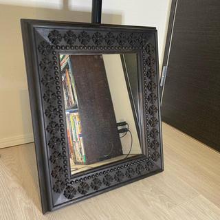 クロムハーツ(Chrome Hearts)のクロムハーツ 鏡 エボニー 額縁 家具(壁掛けミラー)
