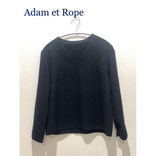 アダムエロぺ(Adam et Rope')のアダムエロペ Vネックブラウス(シャツ/ブラウス(長袖/七分))