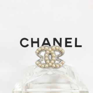 シャネル(CHANEL)の正規品 シャネル 指輪 シルバー ココマーク パール 真珠 ロゴ 銀 リング 石(リング(指輪))