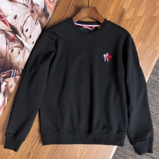 モンクレール(MONCLER)の MONCLER パーカー  Lサイズ   黒(Tシャツ/カットソー(七分/長袖))
