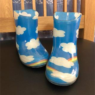 eaB - e.a.B エーアーベー キッズ レインブーツ 青空柄 子供用 長靴 13cm