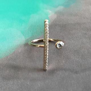 エストネーション(ESTNATION)の新品未使用 Hirotaka ダイヤモンド バー リング(リング(指輪))