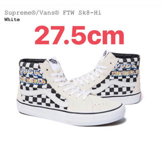 シュプリーム(Supreme)のSupreme  Vans  FTW Sk8-Hi  US9.5(27.5cm)(スニーカー)