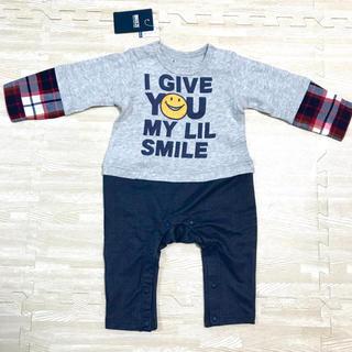 ブリーズ(BREEZE)のBREEZE ベビー服 80cm Boy's レイヤードカバーオール チェック柄(カバーオール)