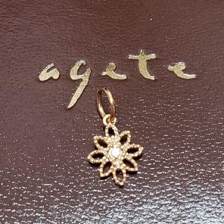 アガット(agete)のagete K10 刻印 ダイヤ 0.01 ネックレス チャームペンダントトップ(チャーム)