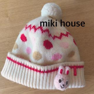 mikihouse - ミキハウス  うさこ ニット帽子