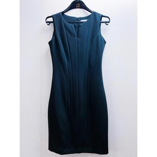 カルバンクライン(Calvin Klein)のCalvin Klein (カルヴァンクライン)黒ドレス(ミディアムドレス)