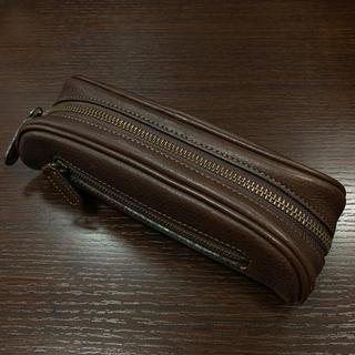 ツチヤカバンセイゾウジョ(土屋鞄製造所)の土屋鞄 ペンケース こげ茶 送料込!(ペンケース/筆箱)
