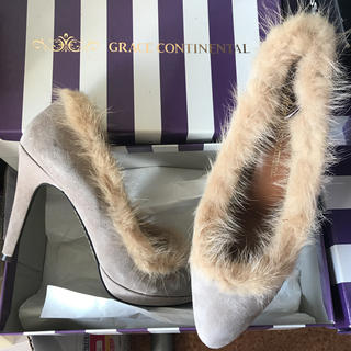 GRACE CONTINENTAL - ミンクファーパンプス ハイヒール 靴