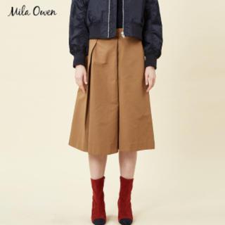 ミラオーウェン(Mila Owen)の新品未使用タグ付き Mila Owen スカート風パンツ ブラウン 茶色(クロップドパンツ)