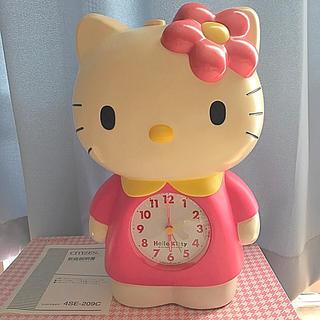ハローキティ(ハローキティ)のCITIZEN  90's レトロ  キティちゃん   目覚まし時計(置時計)