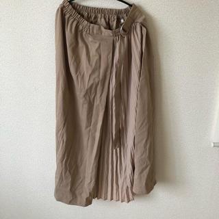 シマムラ(しまむら)のドッキングスカート  ベージュ (ひざ丈スカート)