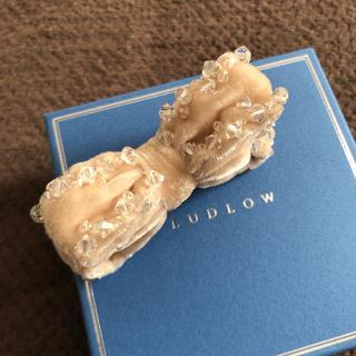 ラドロー(LUDLOW)のラドロー ・LUDLOW ◆一度使用美品◆ ビジュー×ベロア りぼんバレッタ(バレッタ/ヘアクリップ)