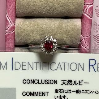 今だけ価格!素敵♪プラチナ、ルビーダイヤリング#11.5(リング(指輪))