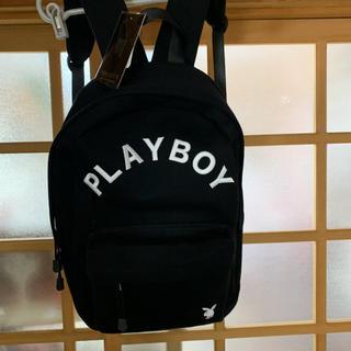 プレイボーイ(PLAYBOY)の未使用 タグ付き プレイボーイリュック ブラック(リュック/バックパック)