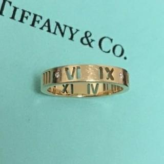 ティファニー(Tiffany & Co.)のティファニー ダイヤ付き アトラスリング K18 AU750  ゴールド(リング(指輪))
