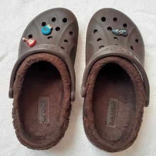 クロックス(crocs)のcrocs ボア付き 22センチ (M4W6)(サンダル)