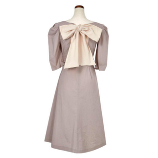 Back Ribbon Midi Dress(ロングワンピース/マキシワンピース)