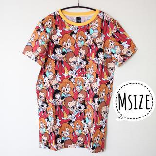 Disney - 海外ディズニー マックス 総柄Tシャツ cakeworthy グーフィームービー