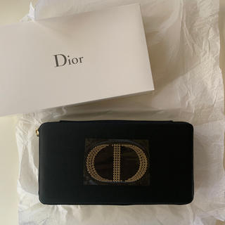 クリスチャンディオール(Christian Dior)のDiorディオールノベルティ☆バニティポーチ黒(ポーチ)