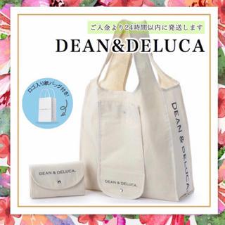 DEAN & DELUCA - 紙袋つきDEAN&DELUCAナチュラルエコバッグショッピングバッグトートバッグ