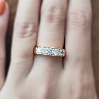 ラウンドエタニティ*モアサナイトダイヤモンド(リング(指輪))