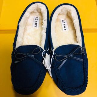 オールドネイビー(Old Navy)のオールドネイビー 新品 モカシン OLDNAVY 靴 24センチ ムートン(スリッポン/モカシン)