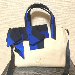 ランバンオンブルー(LANVIN en Bleu)の美品 マリアンヌ 2wayショルダートートバッグ LANVIN en Bleu(トートバッグ)