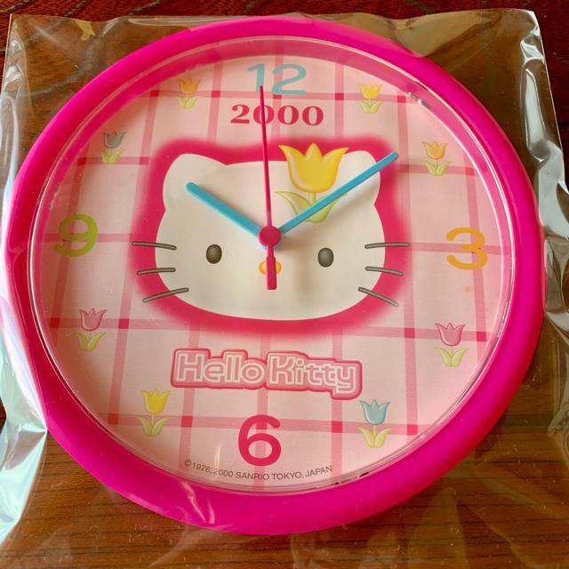 ハローキティ(ハローキティ)のハローキティ 掛け時計 インテリア/住まい/日用品のインテリア小物(掛時計/柱時計)の商品写真