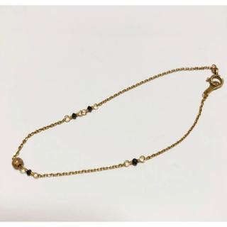 アガット(agete)のアガット ブラックダイヤ10Kブレスレット(ブレスレット/バングル)