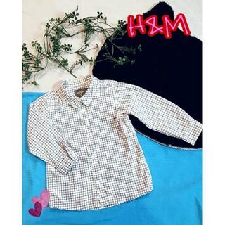 エイチアンドエム(H&M)のH&M❤チェックシャツ size90(ブラウス)